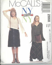 McCall's 2868 Junior's Top, Skirt in Two Lengths and Apron - Sewing Pattern