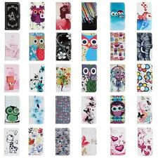 For LG PU Leather Stand Flip Phone Case Wallet Cover Cartoon Flower Protector
