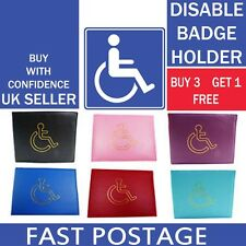 NEW DISABLED BADGE HOLDER HOLOGRAM SAFE PARKING PERMIT DISPLAY COVER WALLET