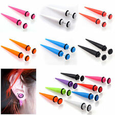 New Illusion Ear Fake Cheater Stretcher Rivet Taper Plug Tunnel Gauges Party TSB