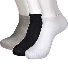 6 PAIRS LOW CUT ANKLE SOCKS 9-11 GRAYS MEN/ WOMEN CASUAL NO SHOW SOCKS THIN