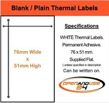 """BLANK WHITE POSTAGE / PARCEL LABELS - 76mm x 51mm - 3"""" x 2"""" (inch)"""