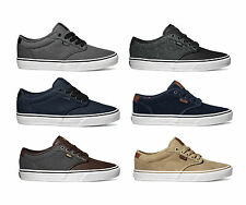 Vans Atwood Deluxe Mens Skate Shoes Trainers 2014 Suede Twill Navy Khaki