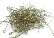 Wholesale New Bronze Tone HOTSELL Eye Pins Findings 30x0.7mm