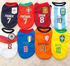 Amy 8 Styles Doggy Apparel World Cup Football Style Pet Dog Clothes Mesh Vest