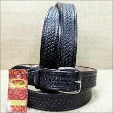 HILASON BLACK HANDMADE BASKET WEAVE TOOL HEAVY DUTY WESTERN LEATHER MENS BELT