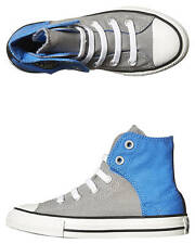 New Converse Boys Kids All Star Easy Hi Shoe Rubber Children Boy's Shoes Grey