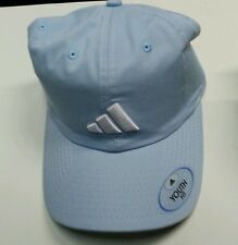 Youth Fit  Adidas Brand Ball Cap Hat Light Blue Khaki Green Embroidery Detail