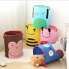Foldable Toys Stuffed Animal Dolls Basket Laundry Tidy Clothes Storage Organizer