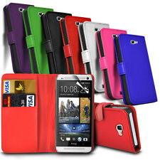 Flip Leather Wallet Case Cover For HTC One M9 (2015) Mobile Phone
