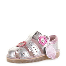 Kickers Girls Infant Kids San Leather Childrens Silver Sandals Shoes Uk Size
