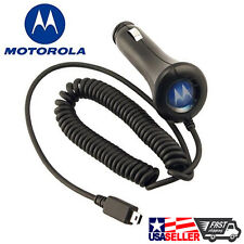 NEW OEM 100% Original Motorola mini USB Car Charger Vehicle Adapter for RAZR