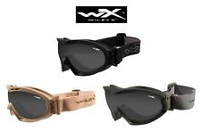 Wiley X Nerve Ballistic Tactical Goggles-Gray & Clear Lens-Choose Frame Color