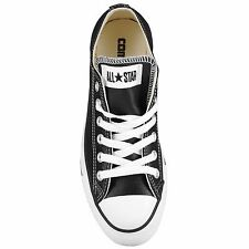 CONVERSE 107348: All Star Chuck Taylor Leather Low Black/White Men's Size NEW