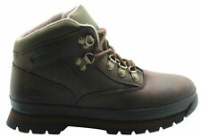 Timberland Euro Hiker Youth Junior Boots Leather Lace Casual Brown (3075R 3095R)