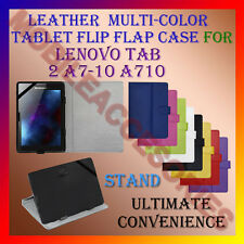 """LEATHER FLIP MULTI-COLOR 7"""" COVER CASE STAND for LENOVO TAB 2 A7-10 A710 TABLET"""