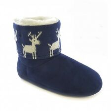 Womens/Ladies Christmas Xmas Design Light Up Indoor Slipper Boots /Booties