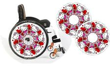 Wheelchair Spoke Guard Skins Hello Kitty Custom Design Personalised Kids & Adult