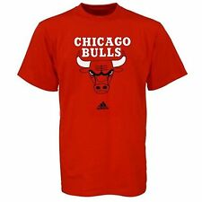Chicago Bulls Adidas Red Primary Logo T-shirt- 3693-3695