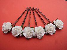 6 ROSE GRIPS 40 COLOURS ACCESSORIES WEDDING KIRBY HAIR SLIDE  MOTHER OF BRIDE