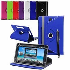 """UNIVERSALE ECOPELLE ROTAZIONE STAND FLIP COVER PER 7 """"Pollici Tab Android Tablet"""