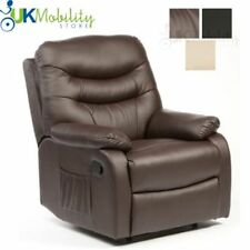 Hebden Heat And Massage Manual Leather Recliner Chair