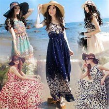 Sexy Womens Summer Chiffon Boho Long Evening Party Beach Dress Fashion Clothes