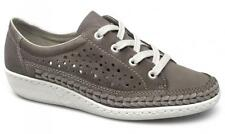 Rieker Antistress 49316-42 Womens Ladies Comfy Soft Lace Up Casual Trainers Grey