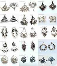 10-50pcs mixed Antique Tibet silver alloy Chandelier earring charm connectors