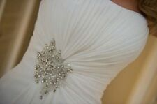 stock White Chiffon Bridal Gown Wedding Dress Size 6 8 10 12 14 16