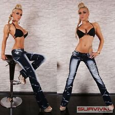 Womens Stretch Jeans Sexy Low Rise Hipster Boot Cut Designer Denim Size 8 10