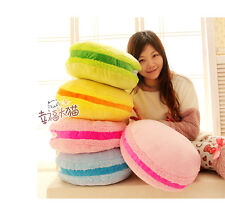 New cute Macaron plush toy colorful round cushion hand warmer birthday gift 1pc