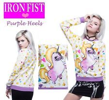 Iron Fist Pony Pullover Unicorn White Sweater Summer 15 S-XL / UK 8 - UK 14