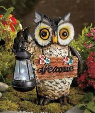 SOLAR POWERED FROG TURTLE OR OWL WELCOME LANTERN GARDEN STATUE ACCENT LIGHTING