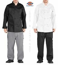 Dickies Chef Set Coat and Pants Chef Uniform FREE Chefs Hat with SET