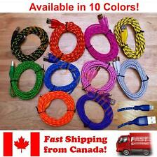 10ft 3m 8 pin Round Braided USB Data Sync Charge Cable for iPod Touch 5th Gen