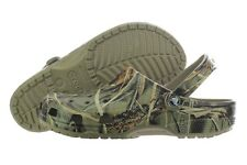 Crocs Classic Realtree 12132-260 Khaki Camouflage Roomy Fit Clog Slippers Mens