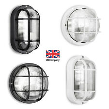 IP44 Black / White Outdoor Exterior LED Bulkhead Security Wall Light Lamp Lights