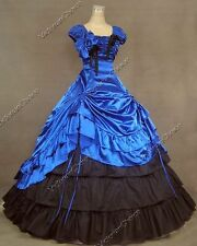 Formal Belle Gown Victorian Dress Theatre Adult Women Halloween Costume Punk 270
