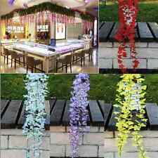 Beautiful Artificial Silk Wisteria Leaf Hanging Flower Plant Vine Wedding Decor