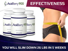 1-6x Acai Berry 900 Weight Loss Diet Supplement Slimming 60-360 Pills Fat Burner