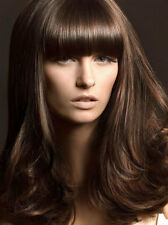 HIGH FASHION SUPER THICK CLIP IN ON FRINGE BANGS HAIRPIECE 10 COLOUR HUMAN HAIR