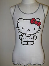 HELLO KITTY Women's JR  TANK  Intimates SLEEPWEAR PJ  L XL White
