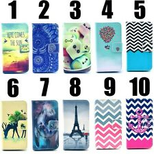 Fashion New Print Hybrid PU Leather Flip Wallet Case Cover for iPhone & Samsung