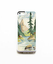 iPhone 5C Paint By Number Mountains Phone Case. Paint by Number iPhone Cases.