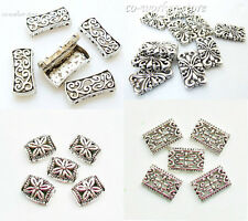 5 3 hole Antiqued Silver Plated alloy bracelet spacer beads jewelry supply