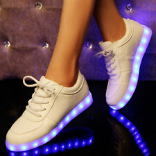 Led Night Light Up Sneakers Men Women Lovers Hip-Hop Dancer Lace Up Casual Shoes