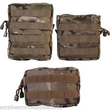 MTP WEBBING UTILITY POUCH 3 SIZES MOLLE ZIPPED MULTICAM BRITISH ARMY CADET