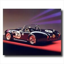 1966 Black Ford Shelby Cobra Car Automobile Wall Picture