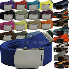 Military Canvas Web Belt With Metal Buckle Spectrum Solid Camo Belts Strap Sizes